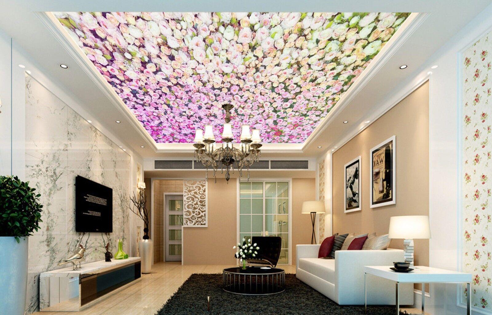 3D Romantic Roses 41 Ceiling Wall Paper Print Wall Indoor Wall Murals CA Jenny