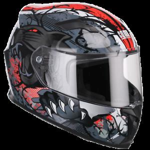 Casco-Moto-Integrale-Demi-Jet-Full-Face-CGM-307S-PANTHER-Rosso-Omologato