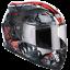 Casco-Moto-Integrale-Demi-Jet-Full-Face-CGM-307S-PANTHER-Rosso-Omologato miniature 1