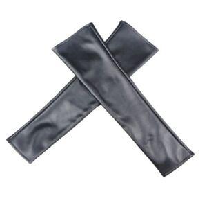 Ladies-Finger-Less-Leather-Long-Sleeve-Elbow-Driving-Gloves-Girls-Wedding-Women