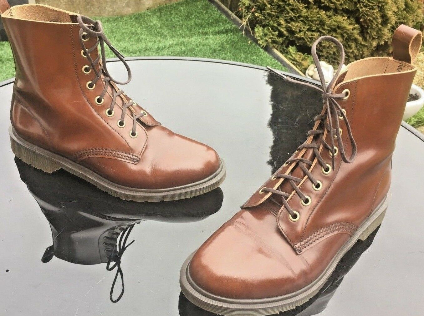 Dr Martens 1F66 brown leather boots UK 7 EU 41 England