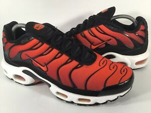 Nike Air Max Plus Tn Team Orange Red White Black Mens Size 9 Rare