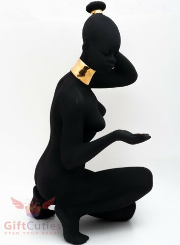 Dulevo Porcelain Beautiful African morning girl figurine handmade souvenir