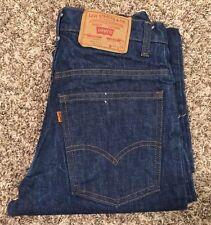 Vtg Levi's 519 - 0217 Zip Talon 42 Denim Blue Jean Sz 28x35 Made In USA. No BigE