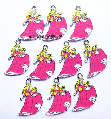 Hot 20 Pcs Princess Jewelry Making Accessories Metal Charm pendant M37