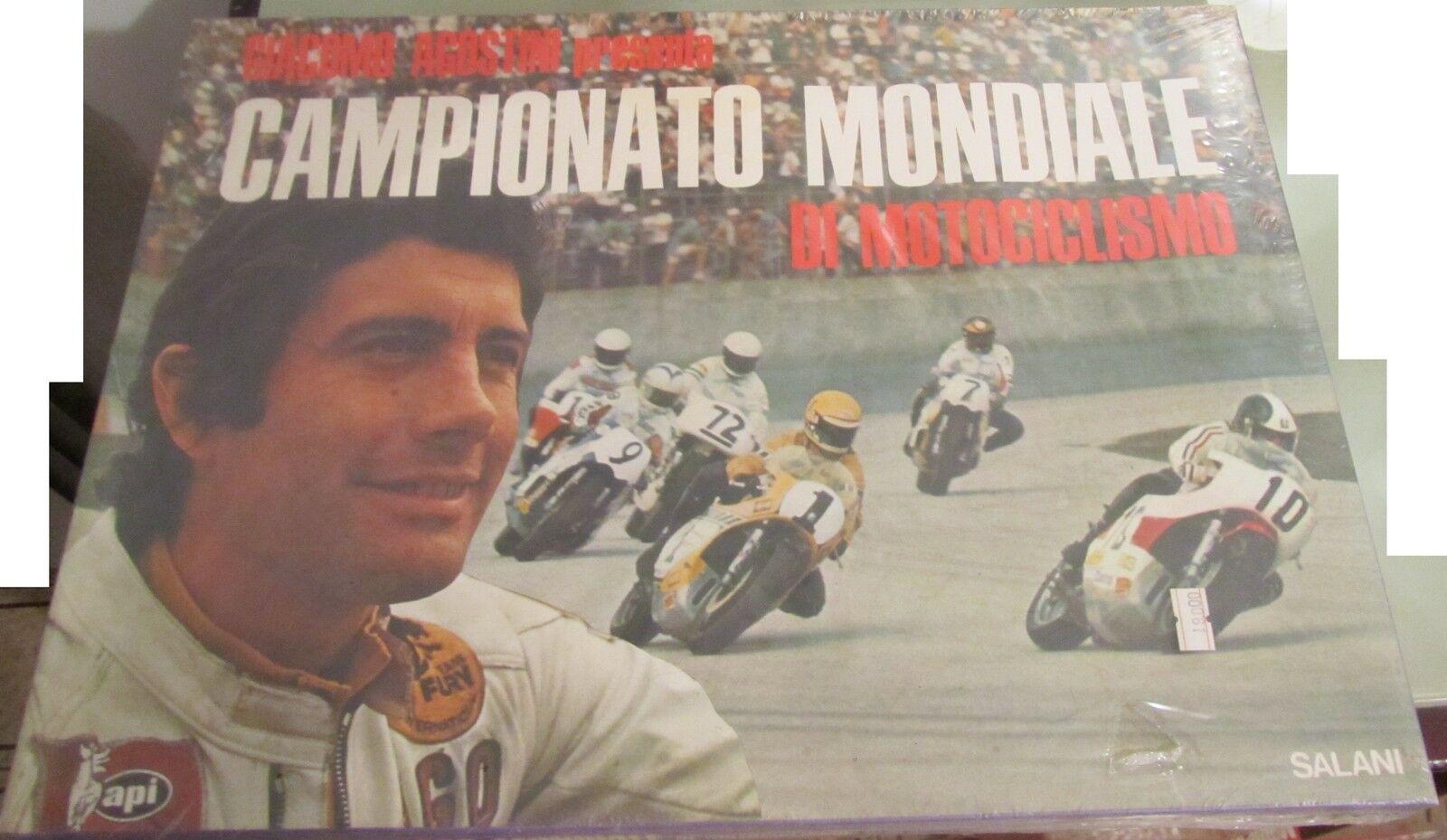 GIACOMO AGOSTINI presenta Campionato Mondiale Motociclismo Salani vintage 1974
