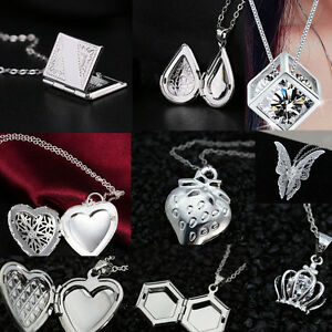 Fashion-925-Silver-Filled-Heart-Pendant-Chain-Crystal-Necklace-Charm-Jewelry