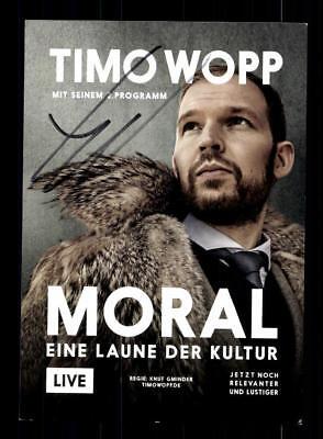 2019 Mode Timo Wopp Autogrammkarte Original Signiert # Bc 110418