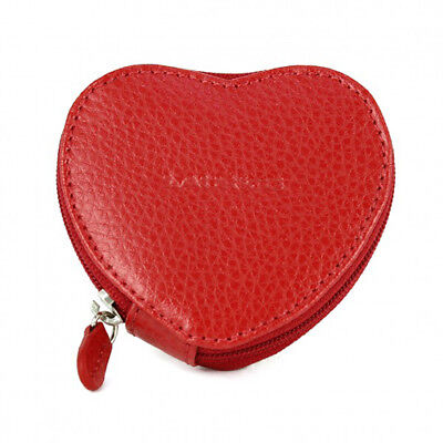 Red by Laurige Best Teacher Gifts Real Leather Heart Shaped Coin Purse Wallet