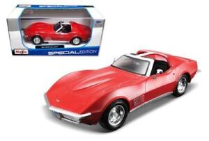 1970 Chevrolet Corvette Red 1/24 Scale Diecast Car Model By Maisto 31202
