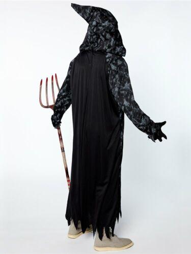 Les adultes Grim Citrouille Reaper Fancy Dress Costume Jack-o-lantern Halloween homme