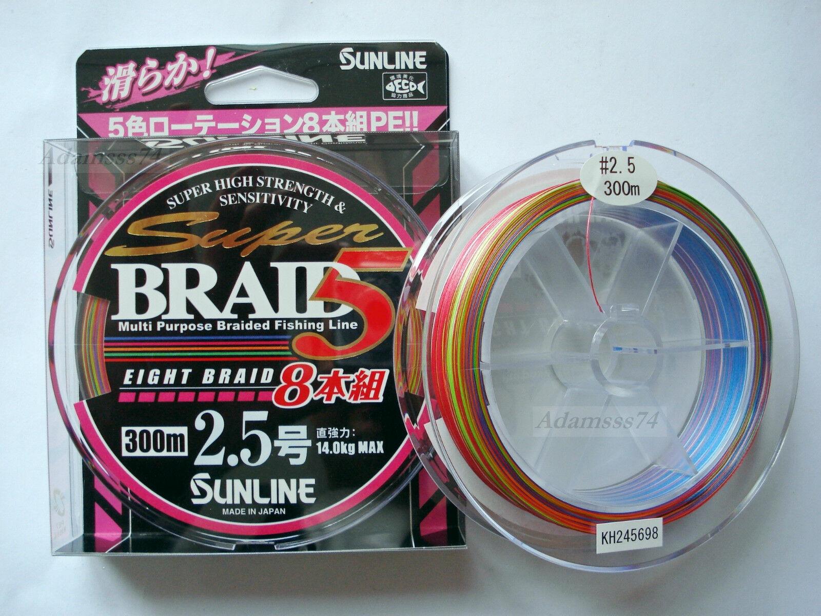 Sunline Super Intrecciato Pe 8 300m300m. To № 1,5 To 300m300m. № 6 8 Eight Braided Fishing 1657ba