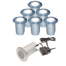 6x LED Patio/ Deck Walkover Lights Top Quality Stainless Steel 60mm Complete Kit