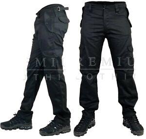 Mens-Cargo-Heavy-Duty-Work-Trousers-Combat-Pockets-Casual-Pants-Multi-Pocket