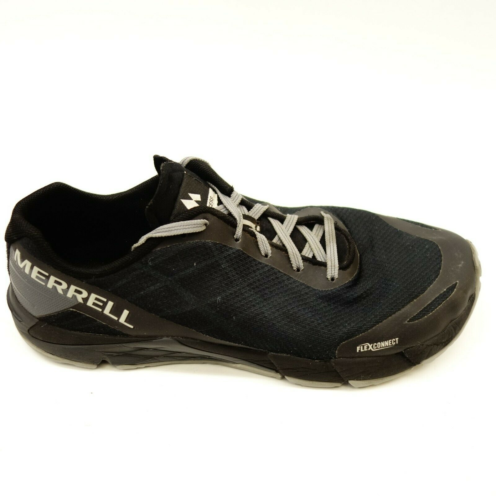 Merrell Mens Size 8 Bare Access Flex Mesh Black Athletic Hiking Running shoes