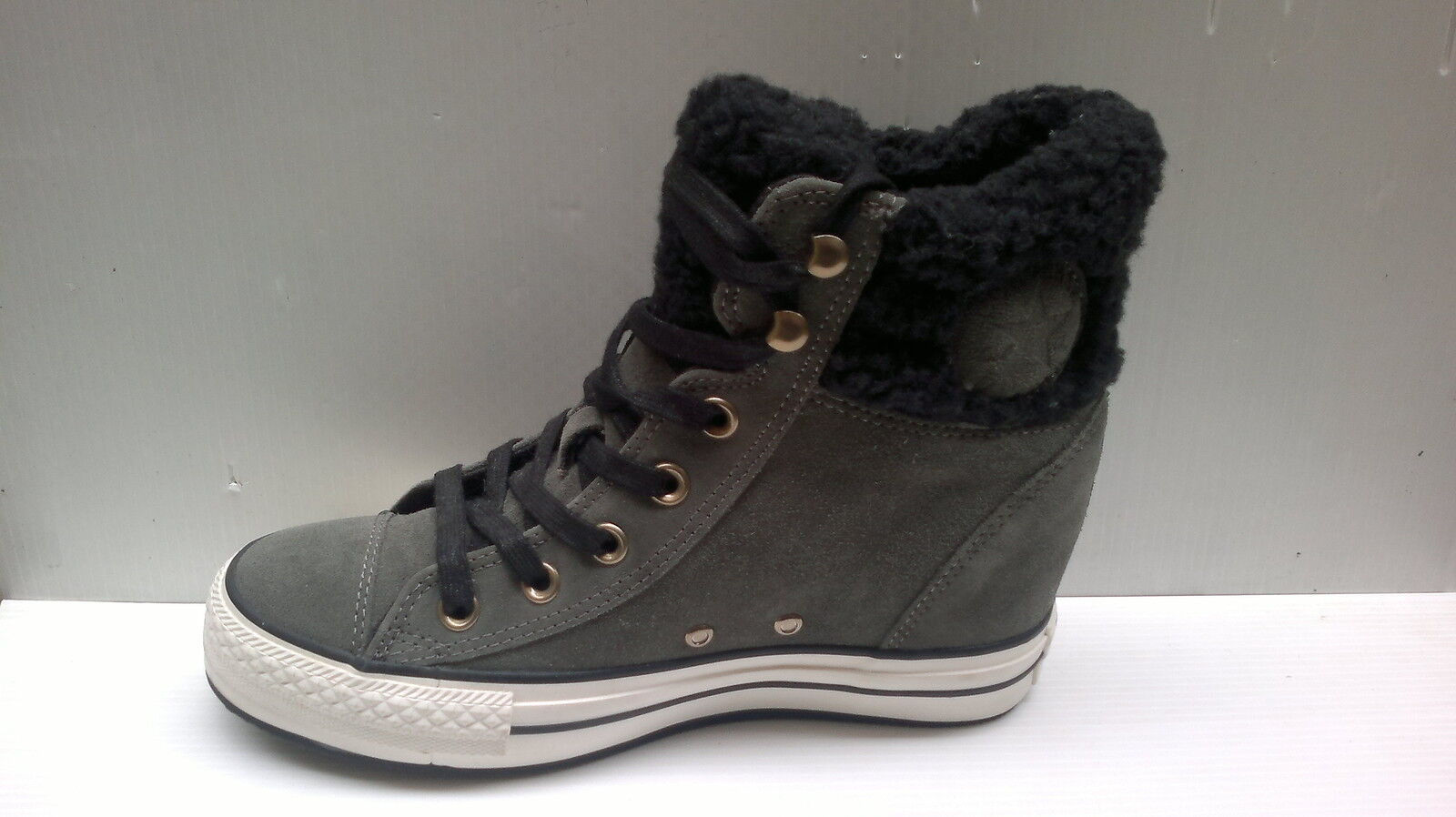 SCARPE CONVERSE ALL STAR HI PLATFORM PLUS COLLAR SUEDE SHEARLING 545051C