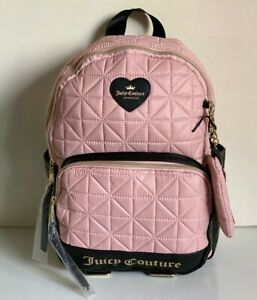 NEW-JUICY-COUTURE-STARBURST-BLUSH-QUILTED-TRAVEL-BACKPACK-BAG-PURSE-99-SALE