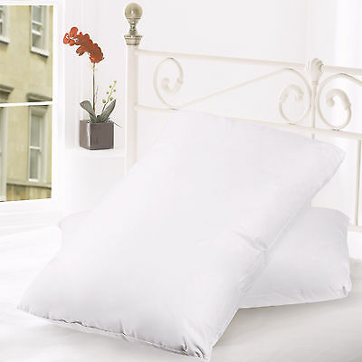 Down and Feather Blend 100% Cotton Cover Premium Bed Pillow 2 Pack - Queen Size
