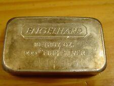 10 TROY OUNCE ENGELHARD BAR .999 FINE SILVER COLLECTABLE
