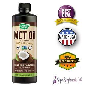 PURE-MCT-OIL-16-Oz-Unflavored-Non-GMO-COCONUT-Vegan-Keto-Fuel-Energy-Paleo-Diet