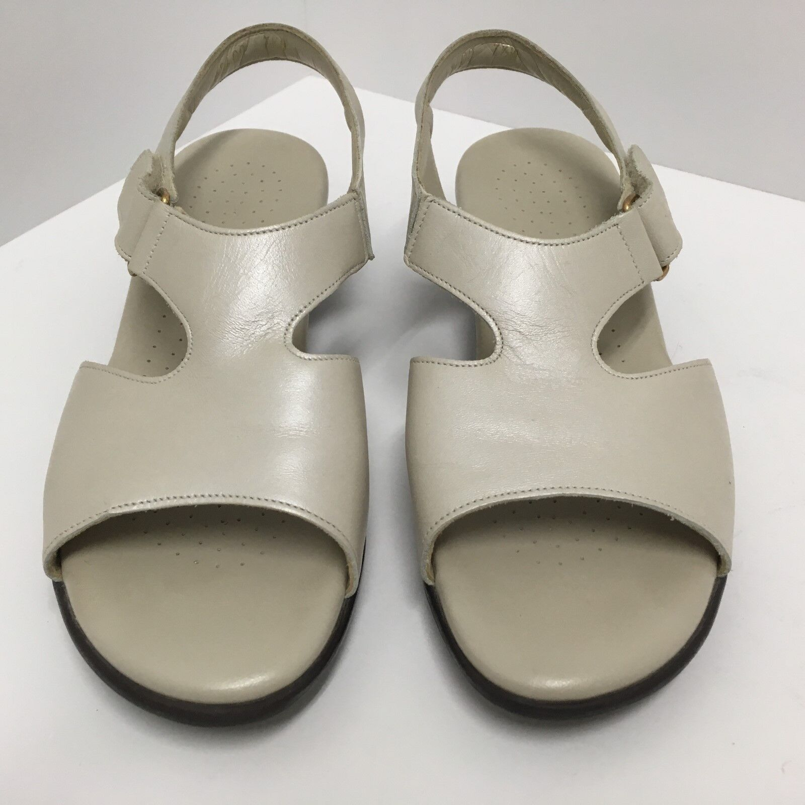SAS Tripad Comfort Suntimer Beige Leather Sandals Ankle Strap Women's Size 7.5 W