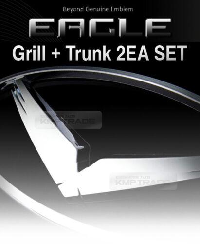 Trunk Badge 2EA for KIA 2017-2018 Cadenza Eagle Oval Emblem Grille
