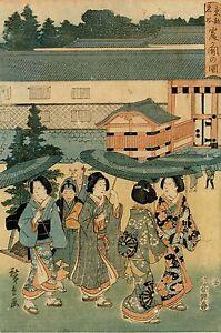 Veritable-Estampe-Japonaise-Originale-De-Hiroshige-034-Lieux-Celebres-De-Toto-034