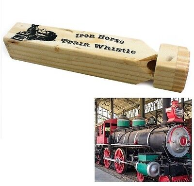 "New TOYI Inc 1 Pair Of Wooden Train Whistles  6 5//8/"" Slide /& 7 1//2/"" Classic NIP"