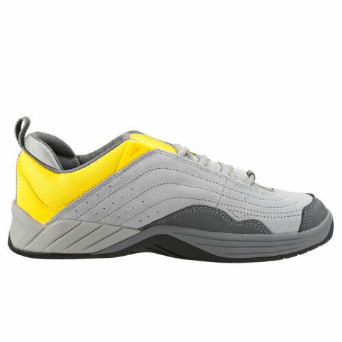 DC Shoes Williams Slim Hombres Grey Yellow Suede y Sintetico Zapatillas Pat?n