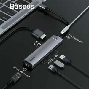 Baseus-6in1-USB-C-Hub-Adaptateur-Type-C-to-USB-3-0-4k-HDMI-rj45-PD-pour-MacBook-Pro