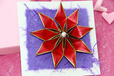 Handmade origami card. 1st paper / 4th flower wedding anniversary & birthday