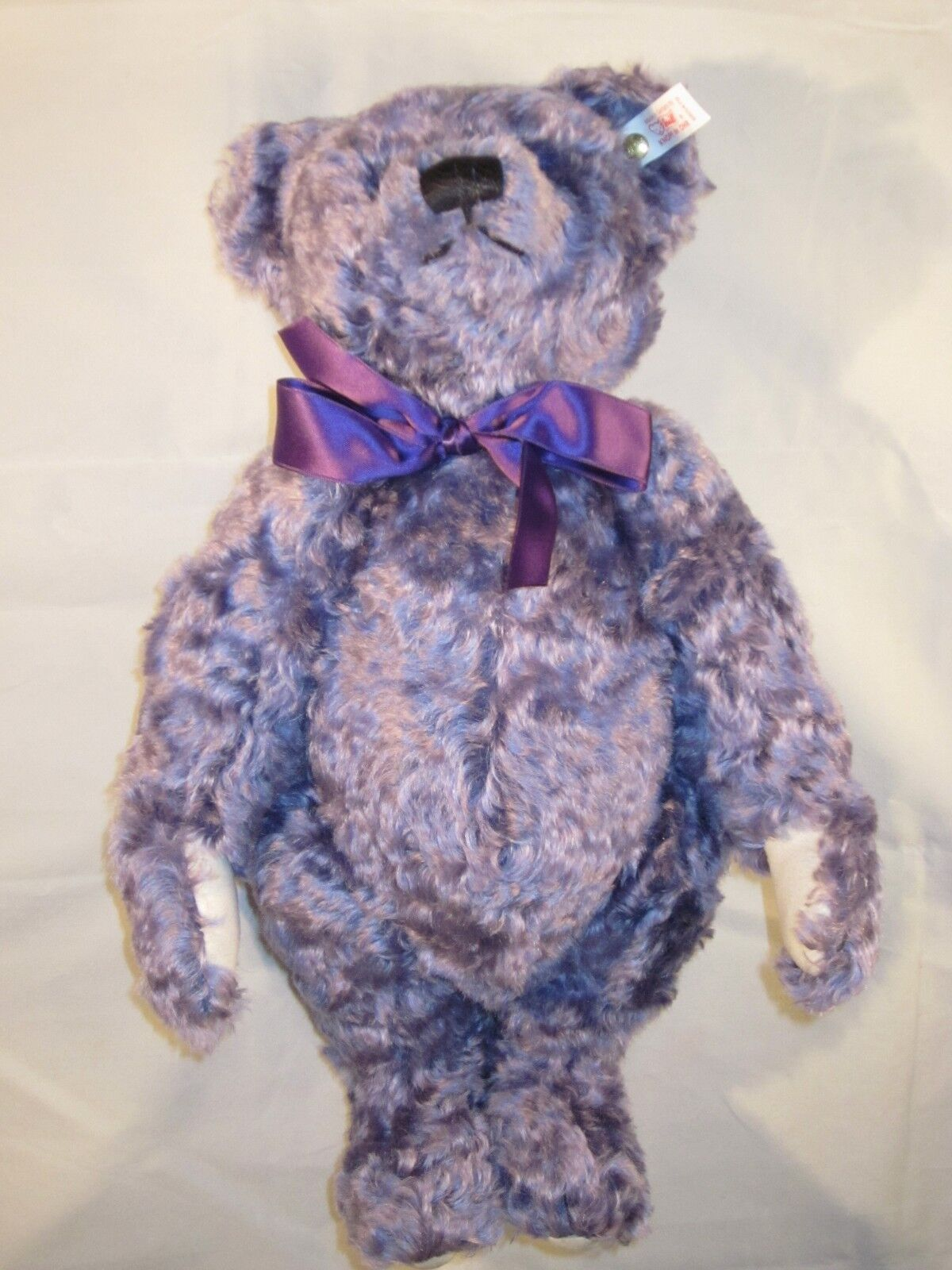 STEIFF Lavender blu Bear LIMITED EDITION ~ VINTAGE with TAG in BOX