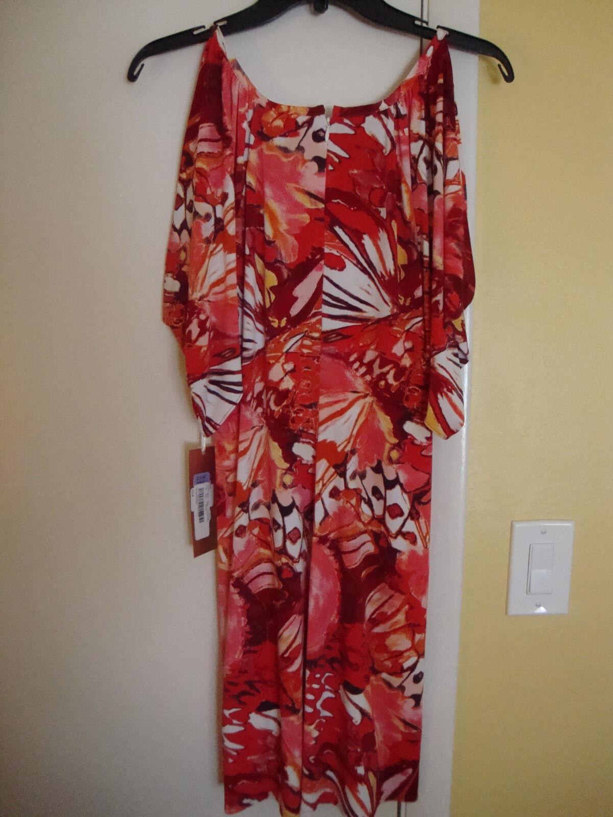New Womens Linda Segal by Navici Multi Pink Dress Size Medium