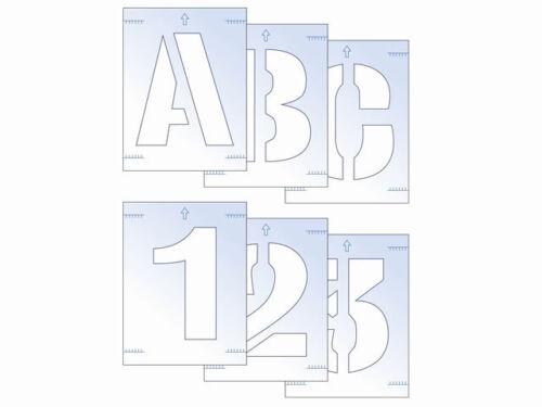 Scan SCA9403 Lettre Et Numéro Pochoir Kit 25 mm SIGNE