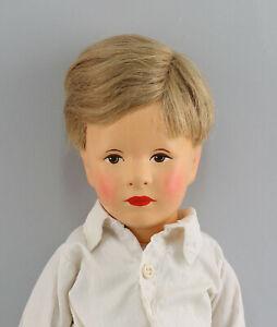 8510007-Puppe-niedlicher-Kaethe-Kruse-Junge-Deutsches-Kind-restauriert