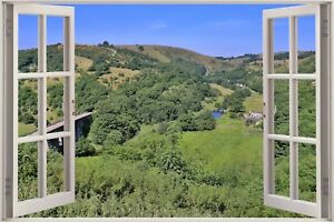 Image Is Loading Huge 3D Window View Tranquil Outside Wall Sticker