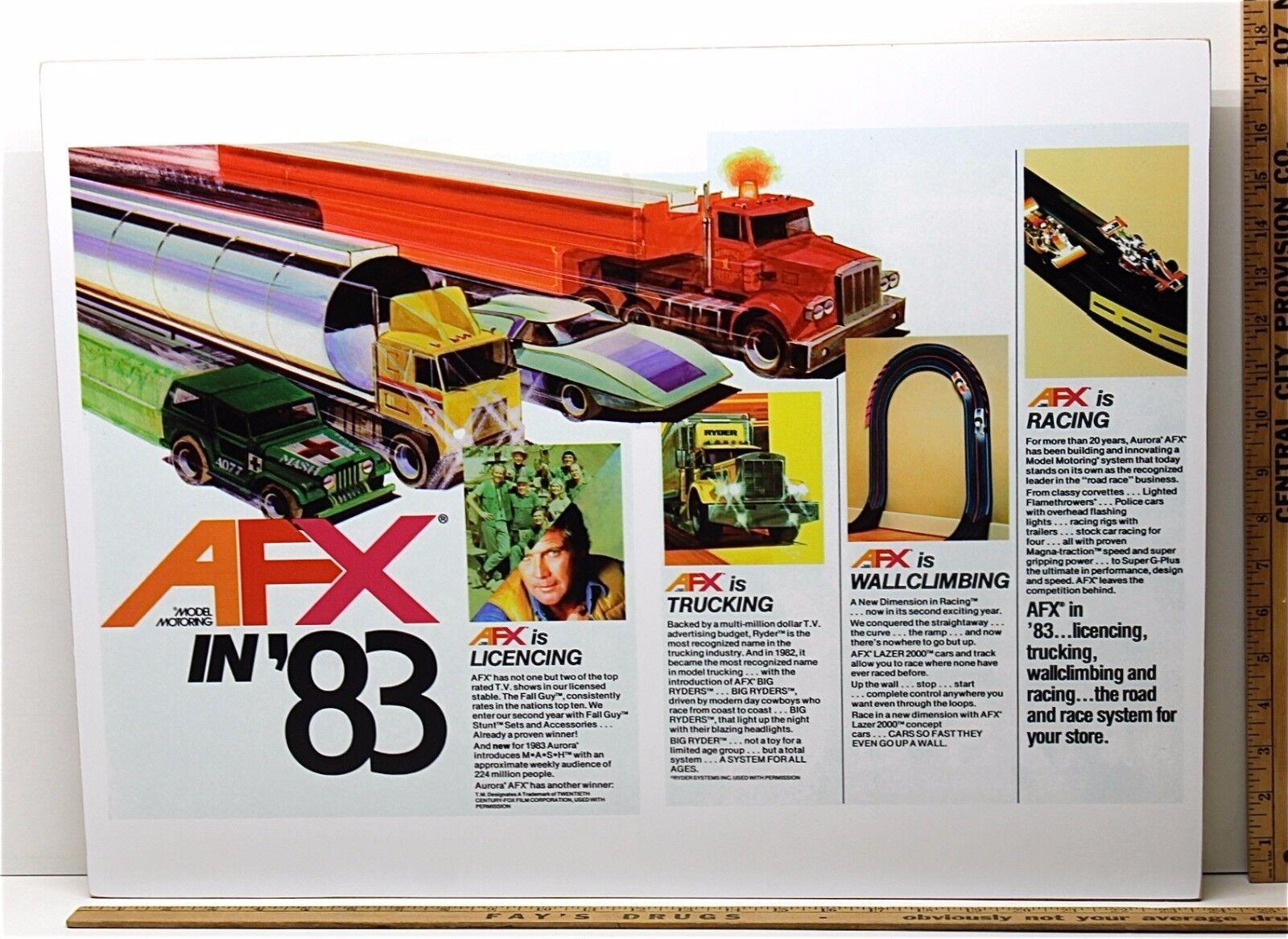 1983 Aurora AFX HO Slot bil konst Work Mans Room TV 4 -Design Bildad annonsering A