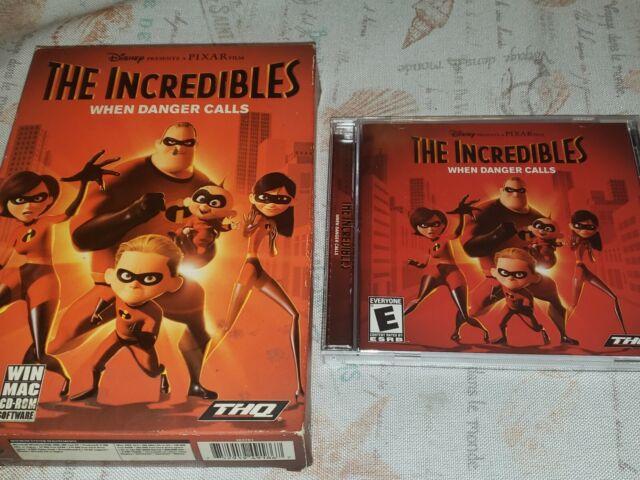 The Incredibles -  When Danger Calls PC CD ROM Game, (2004, Disney, Win/MAC)