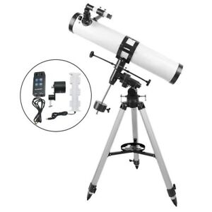 Visionking-114mm-900-Equatorial-Mount-Space-Astronomical-Telescope-Motor