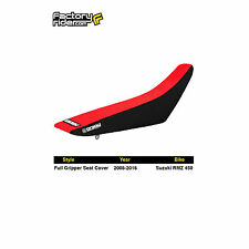 2008-2016 SUZUKI RMZ 450 Black/Red FULL GRIPPER SEAT COVER BY Enjoy MFG
