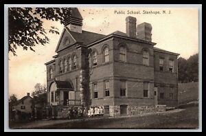 SCARCE-STANHOPE-NEW-JERSEY-PUBLIC-SCHOOL-POSTCARD-SUSSEX-CO-1907