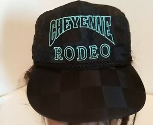 Details about VTG Cheyenne Frontier Days Rodeo Festival Nylon Snapback Hat  Wyoming Cap