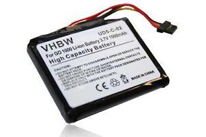 Batteria 1000mAh 3.7V Li-Ion per TomTom Go1000,Go1000,Go1000 Live,Go1000 Live