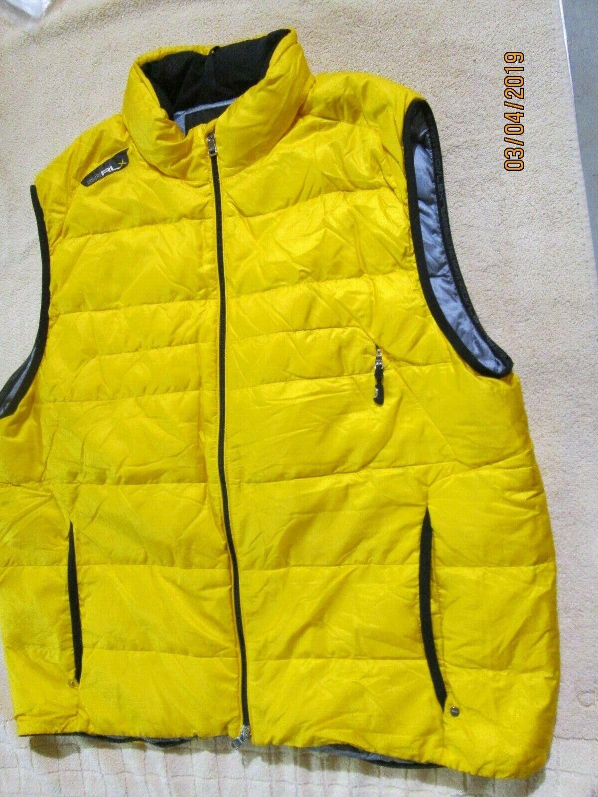 RLX Ralph Lauren Down Vest RLX 67 10 Größe XL Gelb