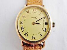 orologio eberhard ovale manuale placcato oro e acciaio donna 1980