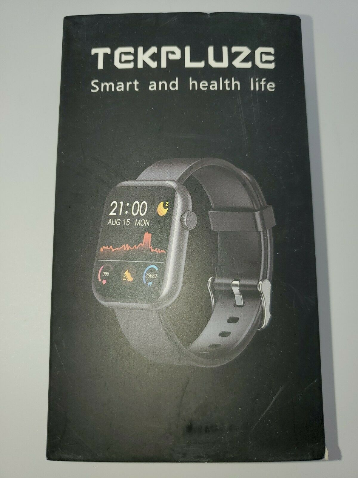 TEKPLUZE Smart Watch Fitness Tracker w/ Heart Rate Monitor, call alert, messages