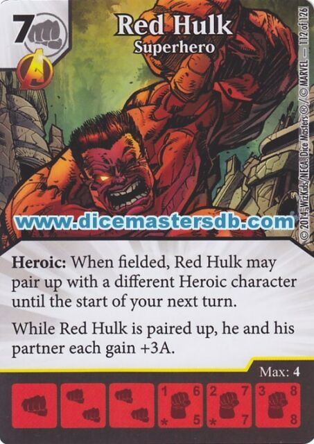 Red Hulk Superhero #112 - Uncanny X-Men - Marvel Dice Masters
