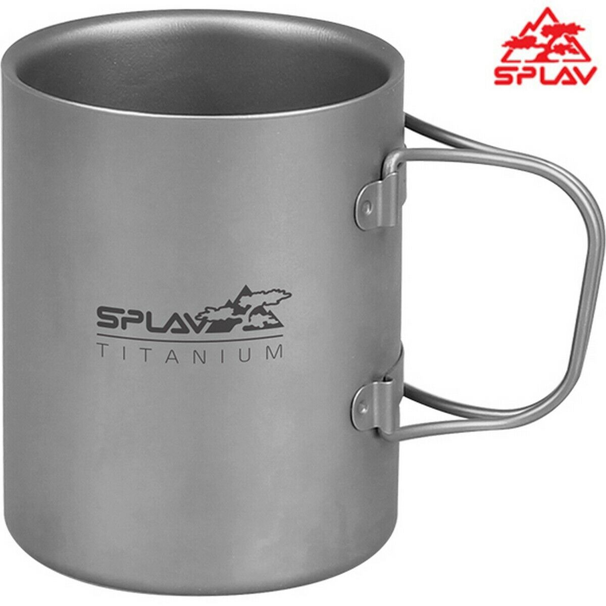 Splav Titanium Folding Handle Double-wall Thermal Mug 300 ml Outdoor Thermo Cup