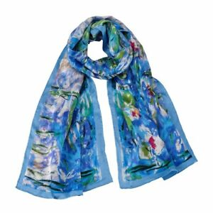 100-pure-silk-scarf-Claude-Monet-039-s-Water-lilies-Gift-wrapping-available