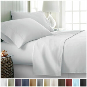 Hotel Collection Egyptian Comfort 4 Piece Deep Pocket Bed Sheet Set